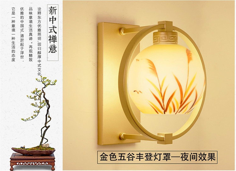 JJZHG Wandleuchte Wandlampe Wasserdicht Wandbeleuchtung New Wandlampe Schlafzimmer Nachttischlampe Wohnzimmer Gang Korridor Balkon Glas,410mm beinhaltet  Wandlampe,stoere wandlampen