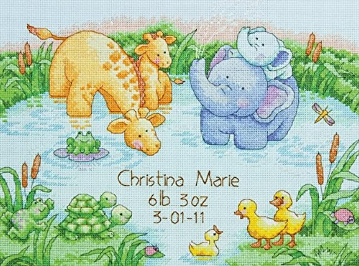 Dimensions 70-73697 Little Pond Birth Record Counted Cross Stitch Kit-12X9 14 Count akcdpstpmex539