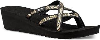 Teva Women's W Mush Mandalyn Wedge Ola 2 Flip-Flop, Agave Black/Metallic, 9 M US