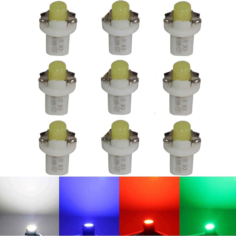 LED-Mafia Lot de 9 /éclairages de comptoirs COB Blanc//bleu//rouge cockpit