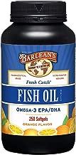 Barlean's Fresh Catch Fish Oil, Omega-3, 1000mg EPA/DHA, Orange Flavor, 250 softgels