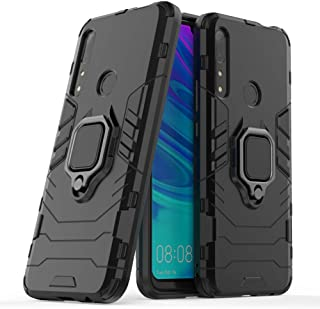 Case for P Smart Z Y9 Prime 2019 DWaybox Ring Holder Iron Man Design 2 in 1 Heavy Duty Armor Hard Back Case Compatible for Huawei Y9 Prime 2019/P Smart Z/Enjoy 10 Plus/Honor 9X 6.59 Inch (Black)