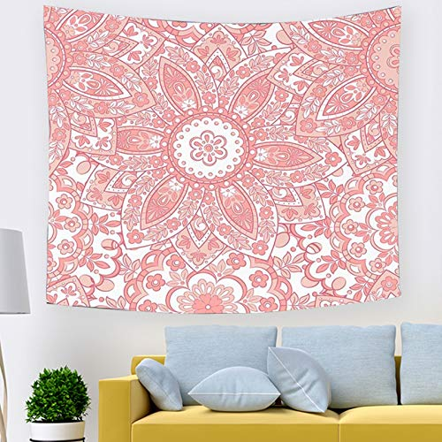 BATOHOME Wall Decoration 3 D, Tapestry Psychedelic Mushroom Flower Line Art Tapestry for Bedroom Living Room Tapestry 150x100CM