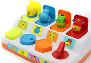 Verzabo Pop Up Toy Pop Up Animal Toy Baby Pop Up Toy Pop Pals Toys Pop Up Animals Pop Up Peekaboo Baby Animals Cause and E...