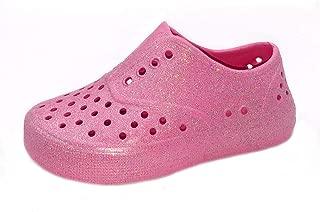 ASF Girls Glitter EVA Water Slip-On Sneakers (Toddler/Little Kid)