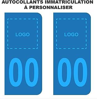Stickers voor kentekenplaat, auto, personaliseerbaar