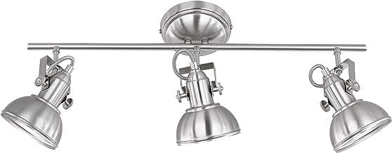 Reality Leuchten Plafondlamp Gina R80153007, metaal nikkel mat, 3 x E14
