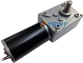 TSINY BBQ Miniature Right Angle 12v DC 16 Rpm Electric Worm Gear Box Motor