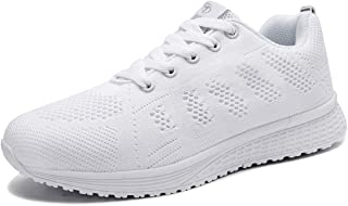 Youecci Femmes Baskets Running Fitness Course Basses Athlétique Marche Gym Filets Chaussures Respirant Maille À Lacets Leg...