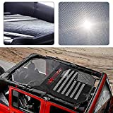 Voodonala Black Durable Sunshade Mesh Top Cover Provides UV Sun Protection for 2007-2017 Jeep Wrangler JKU 4 Door...