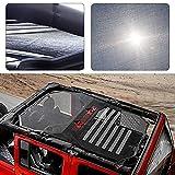 Voodonala Black Durable Sunshade Mesh Top Cover Provides UV Sun Protection for 2007-2017 Jeep Wrangler JKU 4 Door...