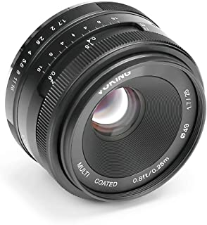 Voking 25mm f/1.7 Large Aperture Wide Angle Lens Manual Focus Lens for Sony E-Mount Mirrorless Cameras Sony NEX3 NEX3N NEX5 NEX5T NEX5R NEX6 NEX7 A6400 A5000 A5100 A6000 A6100 A6300 A6500,etc