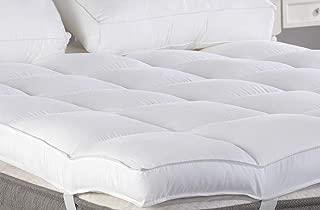 Marine Moon King Mattress Topper, Plush Pillow Top Mattress Pad/Bed Topper, Hotel Quality Down Alternative, 3
