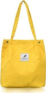 HK5G NoChoX Handtasche Damen Canvas Tasche Lässiges Einkaufen Handtasche Damen Umweltschutz und Mode Canvas Umhängetasche ...