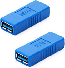 HTTX USB 3.0 Adapter - Type A Female to Female Connector Converter Adapter -Blue (2-Pack)