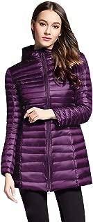 Women's Winter Down Coat Puffer Jacket Packable Lightweight Hooded Slim Warm Outdoor Sports Travel Parka Outerwear
