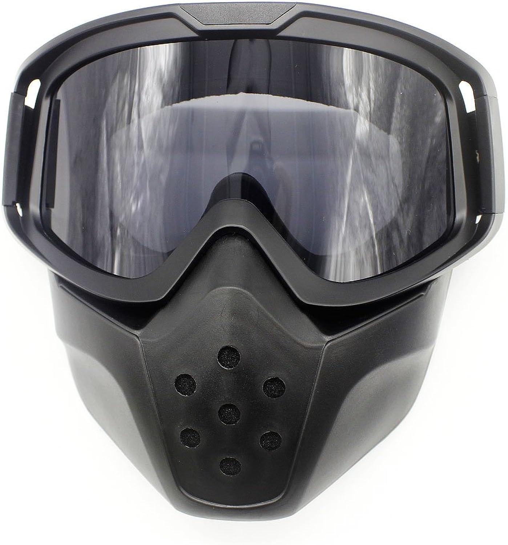 b5df6f5b8b5d Goggles Mask Detachable Harley Style Padding Helmet Sunglasses UV ...