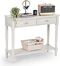 AILEEKISS Console Table with Drawers Hallway Table Sofa Table with Shelf Entryway Table with Storage for Living Room Bedro...