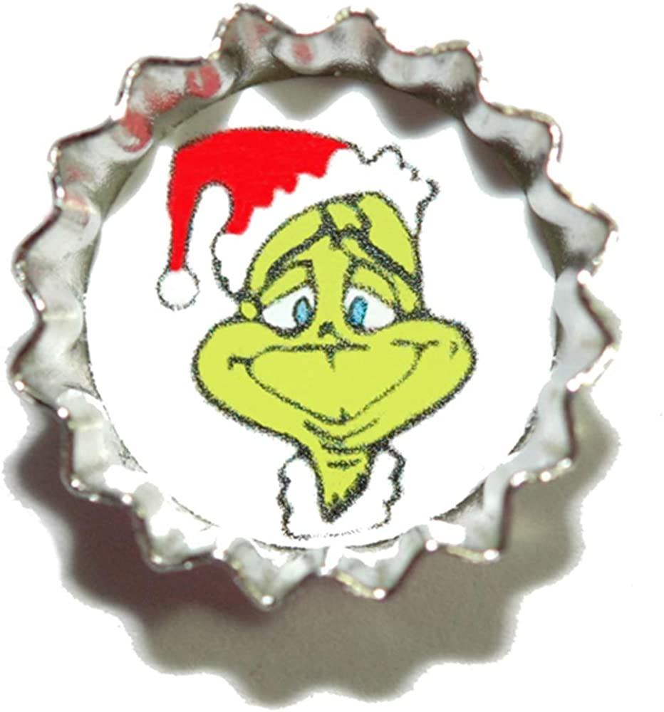 Safety and trust Great interest Cute Christmas Grinch Mini Bottle Cap CAP010h Pin Tie Tack