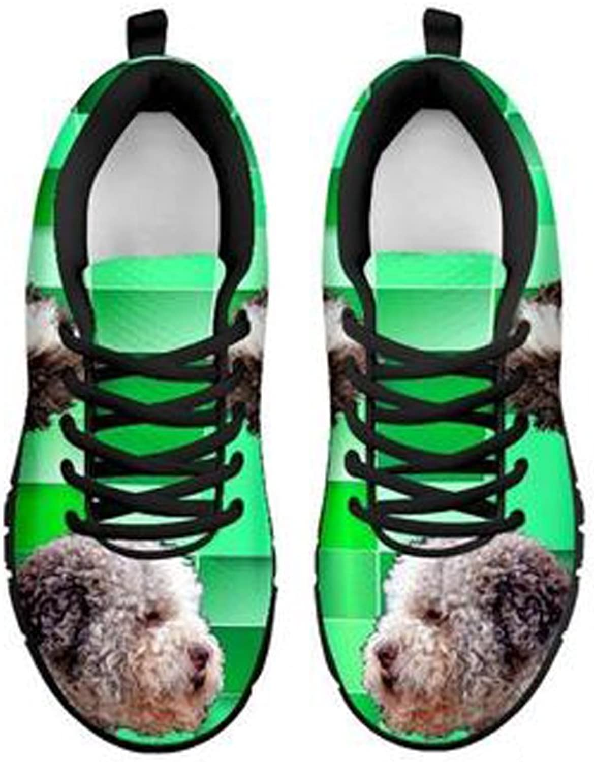 shoestup Cute Lagotto Romagnolo Dog Print Men's Casual Sneakers White