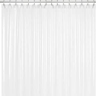 LiBa PEVA 8G Bathroom Shower Curtain Liner, 72' W x 72' H, White 8G Heavy Duty Waterproof Shower Curtain Liner Anti-Microbial Mildew Resistant
