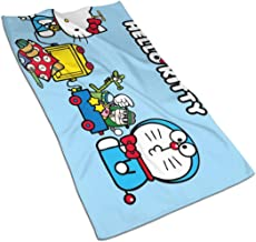 WSXEDC Hand Towels - Doraemon with Hello Kitty Soft and Absorbent Luxury Towel 27.5