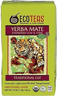 ECOTEAS Organic Yerba Mate Loose Tea Traditional Cut 1 Pound