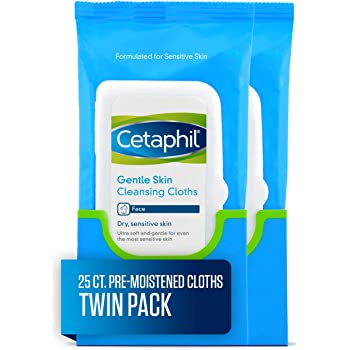 Cetaphil Gentle Skin Cleansing Cloths, 25 Count (Pack of 2)