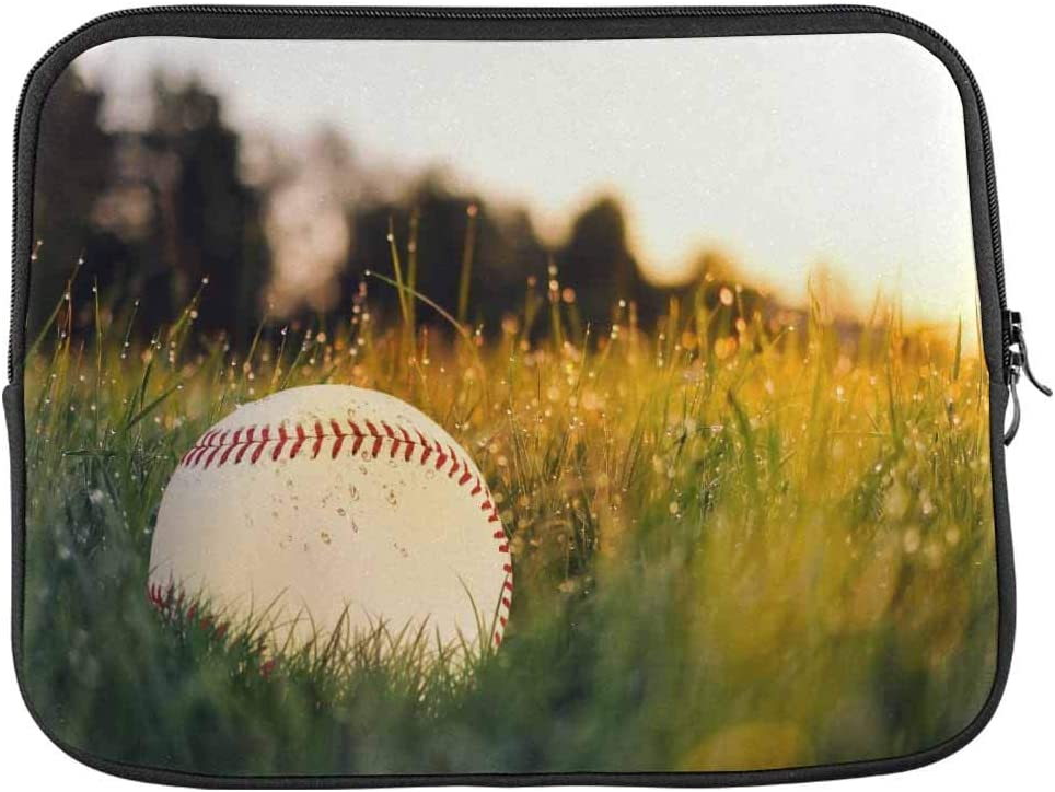 Baseball in The Grass Laptop Sleeve Case 13 13.3 Inch Briefcase Cover Protective Notebook Laptop Bag