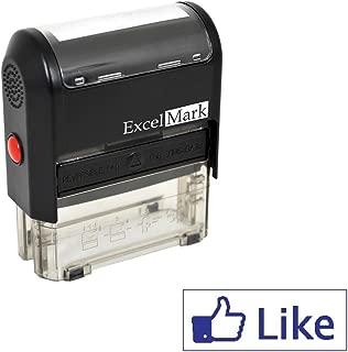 ExcelMark Self Inking Like Stamp - Blue Ink