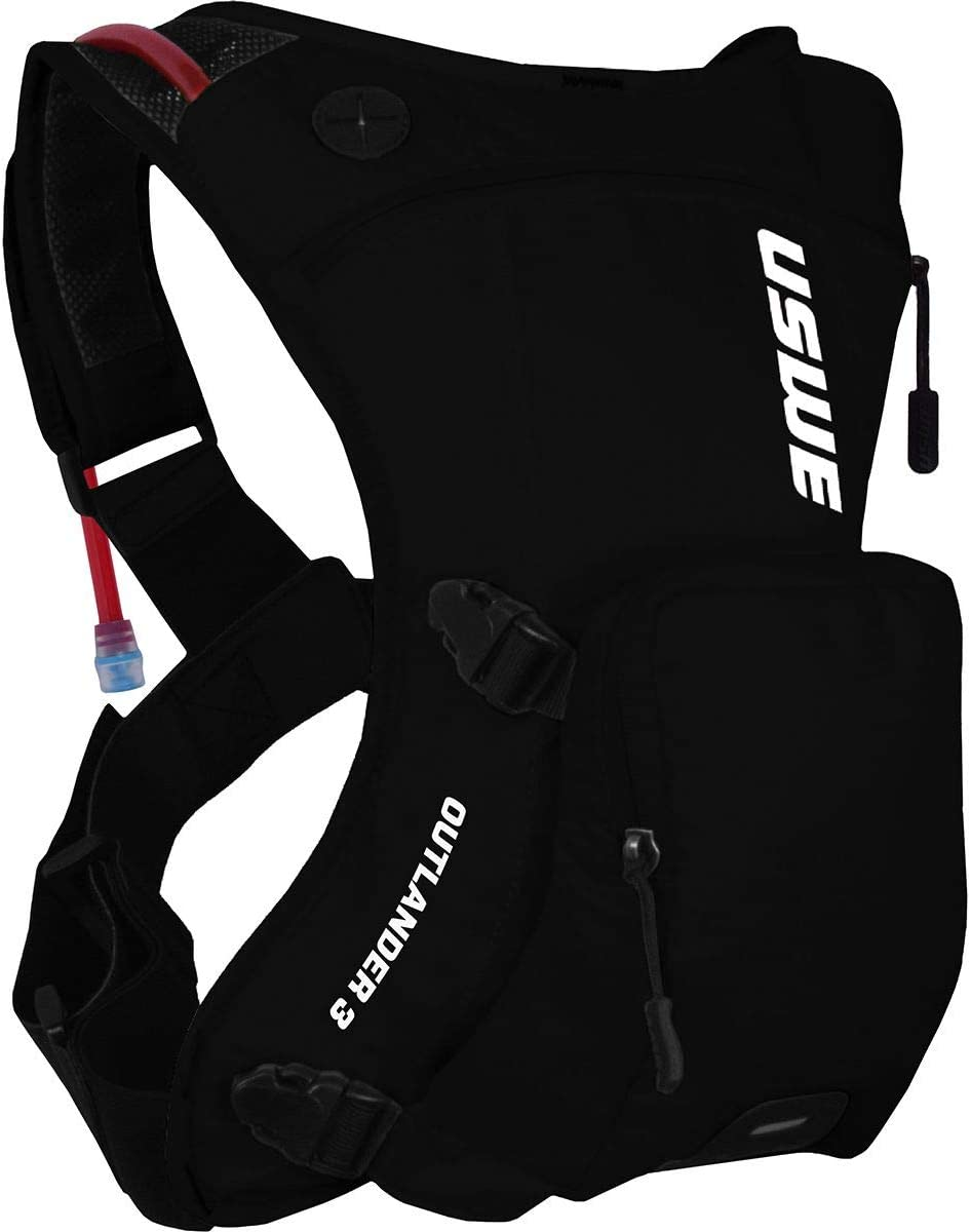 2021 model USWE Outlander Boston Mall 3L Hydration Pack Carbon One Size Black