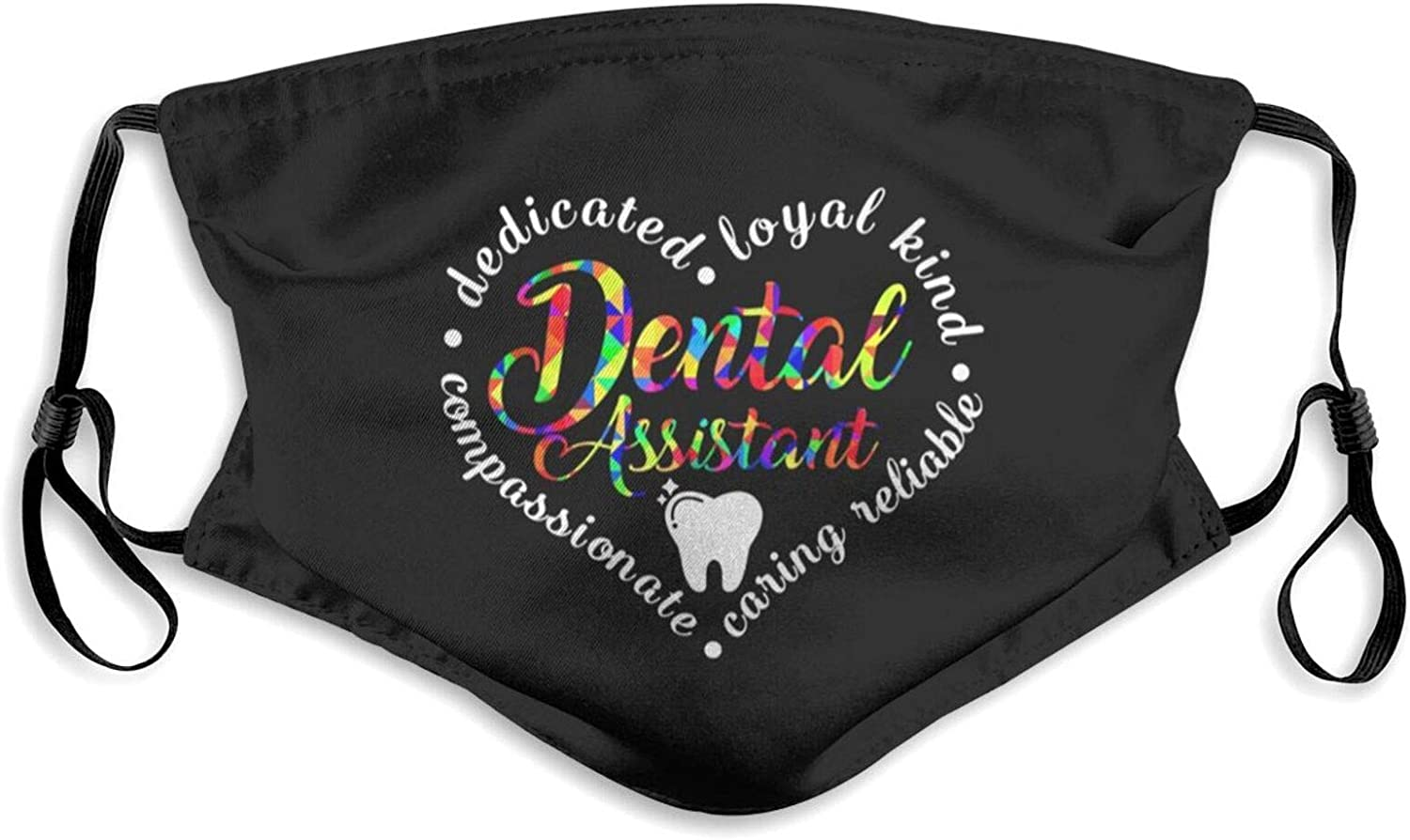 Dental Assistant Rdh Hygienist Week Dentist Face Mask Unisex Reusable Anti-Dust Windproof Face Mask Outdoor Fashion Bandanas Balaclava Black for Camping Travelling Cycling