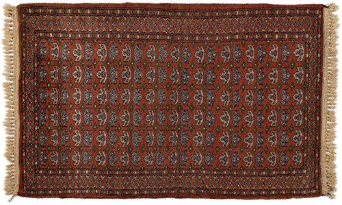 Lifetex.eu Teppich Buchara Pakistan ca. 60 x 100 cm Braun handgeknüpft Schurwolle Klassisch hochwertiger Teppich