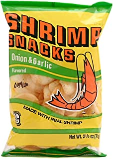 Shrimp Snacks (Onion & Garlic Flavor) - 2.5oz (Pack of 5)