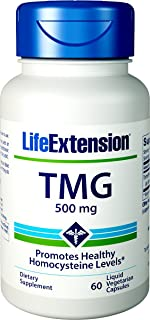 Life Extension TMG 500 mg, 60 Liquid Vegetarian Capsules