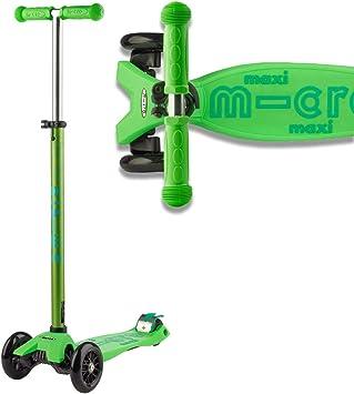 Micro® Maxi Deluxe, Diseño Original, Patinete 3 Ruedas, 5-12 Años, Peso 2,5kg, Carga hasta 70Kg, Altura 67-91cm, Rodamientos ABEC 9, Plataforma ...