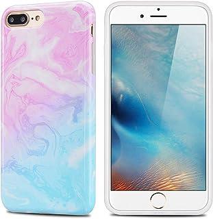be1a8e0ae3a MoEvn Funda para iPhone 8 Plus / 7 Plus, Mármol Suave TPU Silicona Carcasa  Flexible Goma Gel Protectora Case Fina Protector Bumper Tapa Anti Rasguños  ...