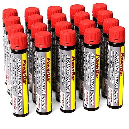 PowerBar Amino Mega Liquid – aminozurencomplex – alle essentiële aminozuren in één ampul – met Whey Hydrolysaat – 20 ampullen