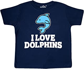 inktastic I Love Dolphins Toddler T-Shirt