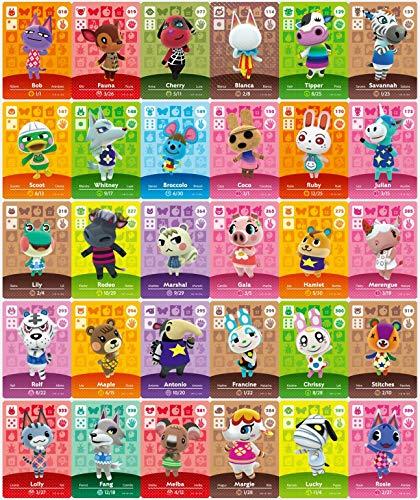 48 pezzi (NO. 25-72) ACNH New Horizons Serie 1-4 Piccole schede NFC 48 pezzi, per Switch/Switch Lite/Wii U/New 3DS.