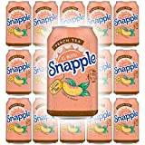 Snapple Peach Tea, All Natural, 12 Fl Oz Can (Pack of 15, Total of 180 Fl Oz)