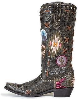 Mujeres Rodilla Alto Botas Western Cowboy Moda Tamaño Grande Bordado Botas De Montar Puntera Puntiaguda Zapatos Ecuestres ...