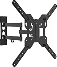 CHARMOUNT TV Wall Mounts Full Motion Tilting Bracket with Swivel Articulating Arm Low Profile for Most 26-55 Inch LED, LCD, OLED Plasma Flat Screen Monitor up to 66 lbs VESA 400x400mm, Fits 16