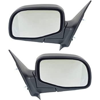 Pair IPCW CMR-FORD Black Sportage Style Manual Side Mirror