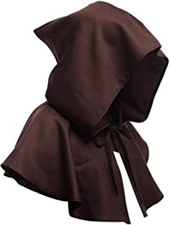 Medieval Hood Costume Cape Halloween Capelet Costume Cloak Cape for Women and Men