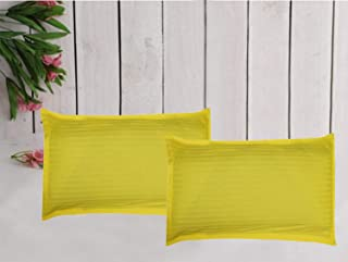 Trance Home Linen 100% Cotton Pillow Covers (18 X 28_Canary Yellow)