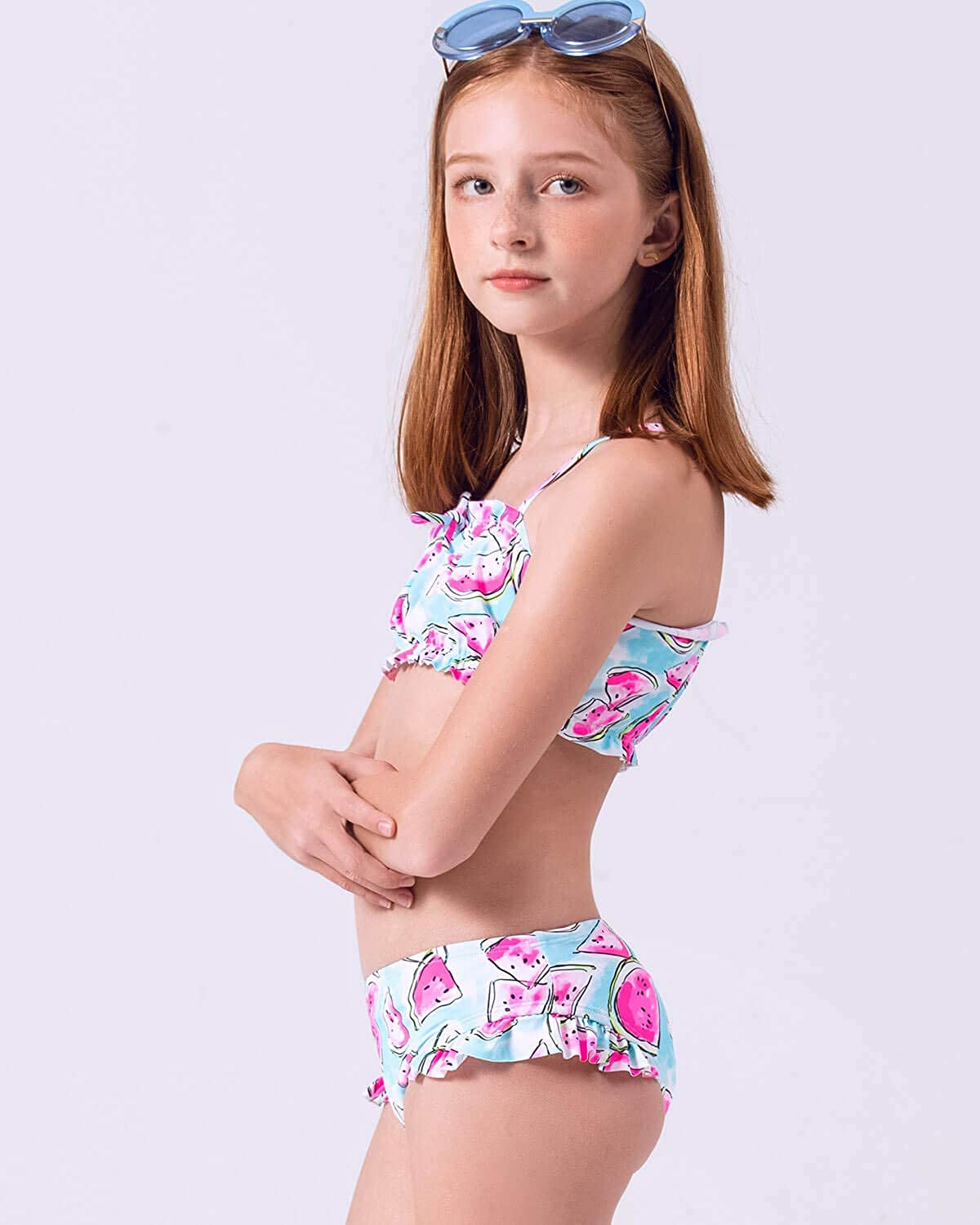 AS ROSE RICH Girls Bathing Suits 7-16 and 2T-6X Summer Beach Sports Swimsuits 2 Piece Swimsuits for Toddler Teen Girls