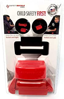 Safety Buckle Pro Seatbelt Lock and Seat Belt Locking Clip - Keep Children in car seat Locked and Tight - Stops Kids with ...