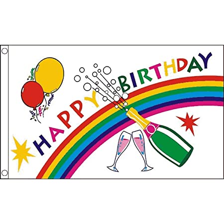 HAPPY 21ST BIRTHDAY 5ft X 3ft Flag 75denier with eyelets suitable for Flagpoles