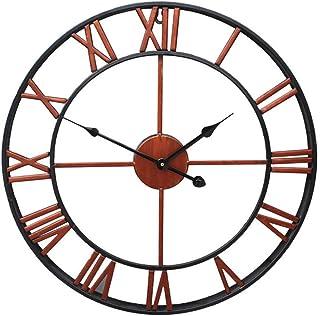 TOPPTIK Wall Clock-16 inch European Retro Clock 40cm Large Roman Numerals Silent Non-Ticking Battery Operated Clock Decora...